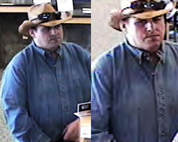 The FBI released these photos of the &quotburly bandit,&quot believed responsible for at least 10 robberies in four states. The photos are from banks in Hampdstead, N.H., Londonderry, N.H., and Warwick, R.I.  (AP Photo/FBI) (Robert Ferguson) (photo on left used)