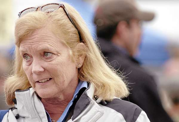 Congresswoman Chellie Pingree, who is running for relection to represent Maine's 1st District, speaks with a reporter at the Common Ground Country Fair in Unity on Sunday, Sept. 26, 2010. (Bangor Daily News/Bridget Brown)