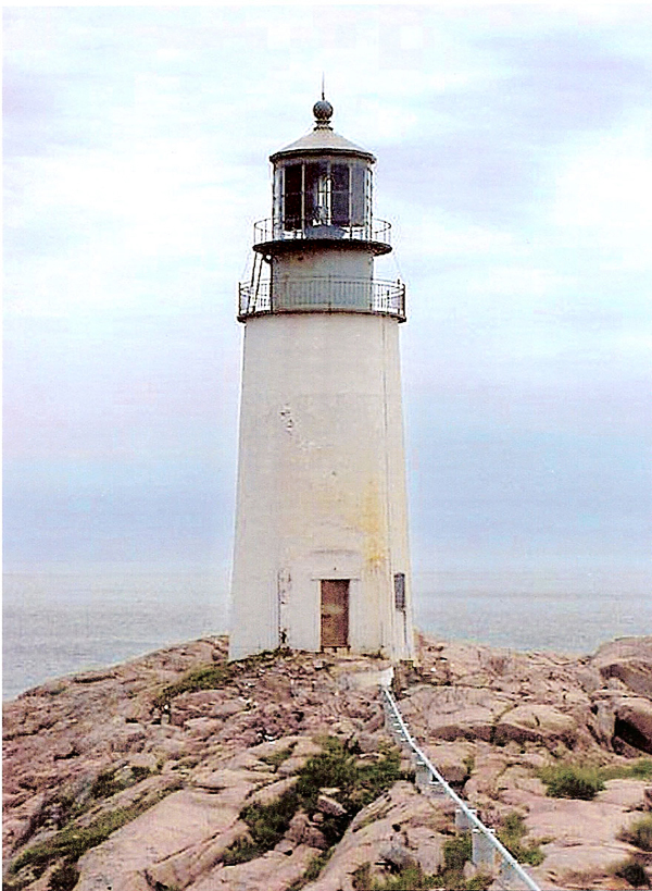 Moose Peak Lighthouse off the coast of Jonesport, Maine as it appears today. This lighthouse is also known as Mistake Island Lighthouse and Moose-a-bec Lighthouse. It is now being offered for free to any qualified nonprofit or the local community. (Lighthouse Digest photograph)