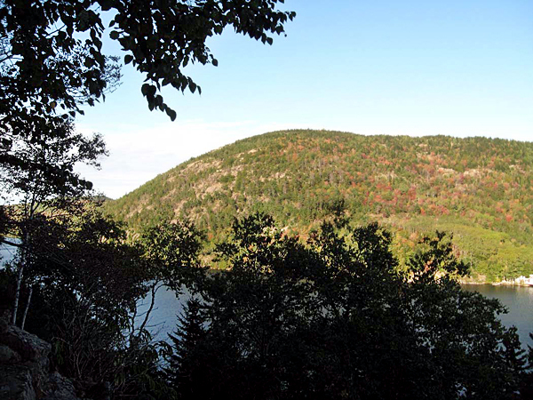 This view of Beech Mountain  and Long Pond in Acadia is from the Perpendicular Trail up Mansell Mountain. (Brad Viles photo)