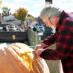 Testing ground for 120-foot-long pneumatic pumpkin cannon at Berwick farm