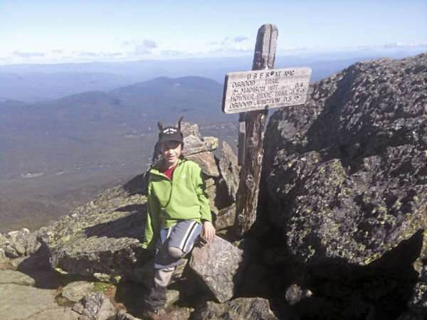 Asher Molyneaux poses for a photo during his attempt to hike the entire length of the Appalachian Trail and ascend the peak of Mount Katahdin. High winds on Saturday forced him to cut his ascent short. (Photos courtesy of Paul Molyneaux)