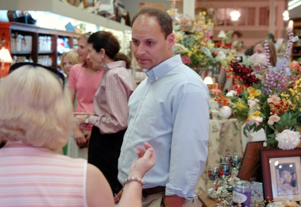 Jason Levesque of Auburn, who is running for the U.S. congressional seat in the 2nd District, talks to Noreen Nee of Boston in Rebecca's shop in downtown Bangor on Thursday. Levesque was doing a walking tour of area businesses with Sen. Olympia Snowe.  (BANGOR DAILY NEWS PHOTO BY BRIDGET BROWN)  CAPTION  Jason Levesque of Auburn who is running for the U.S. Congressional seat in the 2nd district, talks to Noreen Nee of Boston in Rebecca's shop in downtown Bangor on Thursday, Aug. 19, 2010. Levesque was doing a walking tour of area businesses with Senator Olympia Snowe. (Bangor Daily News/Bridget Brown)