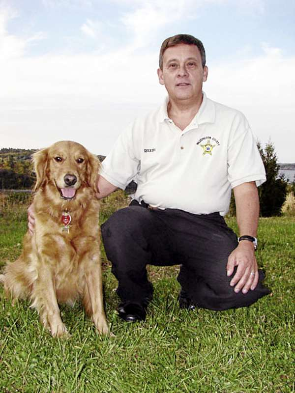 Washington County Sheriff Donnie Smith and Ginger.