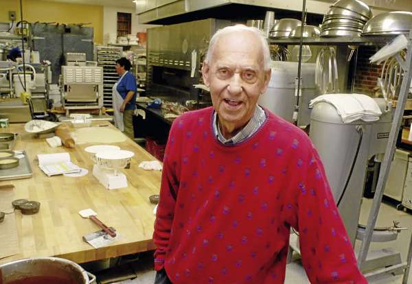 BANGOR, ME -- OCTOBER 13, 2010 -- Frank Soucy, owner of Frank's Bake Shop on State Street, is retiring after the shop just celebrated its 65th anniversary.  Soucy's father, also Frank, opened the bakery in 1945.  There will be an open house on Nov. 13 from 3-6pm to honor Frank Soucy. (Bangor Daily News/LINDA COAN O'KRESIK)