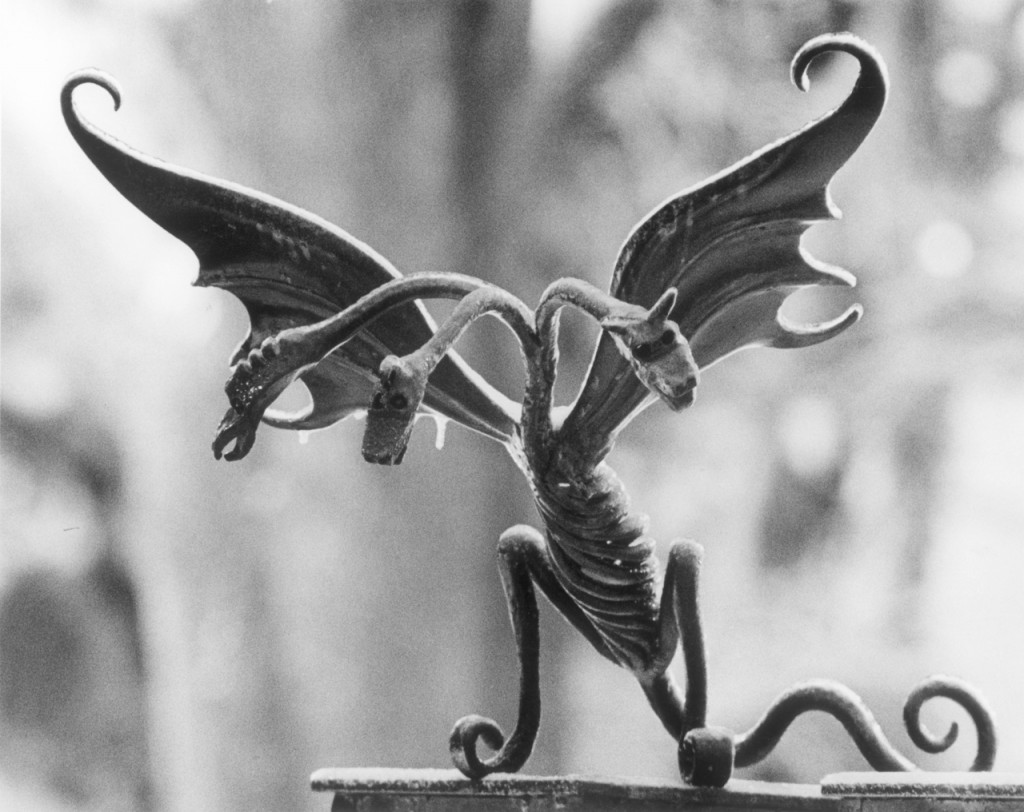 Fencework of a three headed dragon that surrounds the house of Stephen King on West Broadway in Bangor, Maine. BANGOR DAILY NEWS FILE PHOTO MADATORY CREDIT