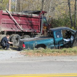 Pickup truck driver dead in head-on collision