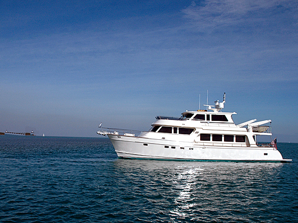The Marlow Voyager 76E long range vessel ---one of the boats built by Marlow Yachts Limited, Inc.
