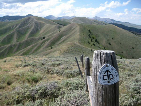 The Continental Divide Trail winds over the highest mountains in the lower forty-eight, like here in Wyoming. Trail markers or foot treadway is rare along the trail.