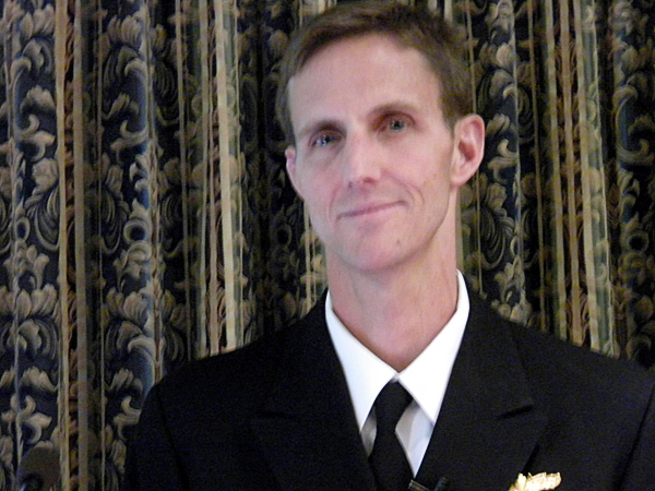 Captain Tim Gallaudet, Ph.D. Deputy Director, Task Force Climate Change/ Office of the Oceanographer of the Navy. Image made on Monday, Ocotober 25, 2010.   (Bangor Daily News/Dawn Gagnon)