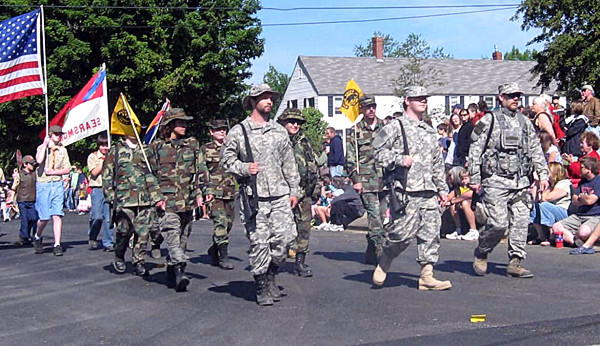 SEARSMONT - The Maine Militia has participated in the Searsmont Memorial Day Parade for about five years. At first, some residents questioned the role of the militia members - but no longer, said Searsmont First Selectman Bruce Brierley.  &quotThey wear their uniforms,&quot he said. &quotThey've been very helpful in organizing the parade.&quot (Photo courtesy of the Maine Militia)