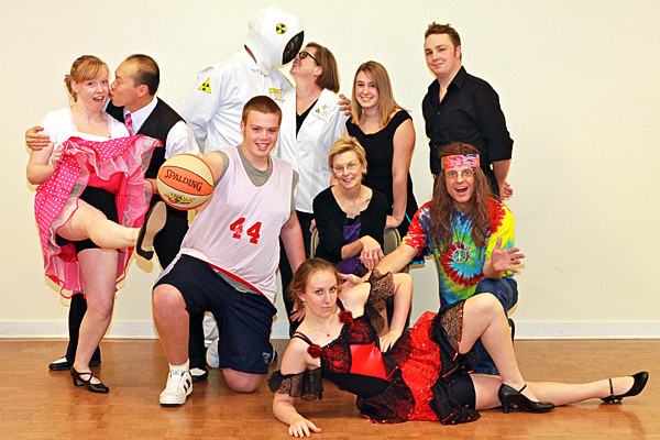 Back Door Dance Studio performers, who entertain audiences to benefit nonprofits throughout Maine are, back row left to right, Annette Anderson, Man Ching Lee, Chuck McKay, Sue McKay, Carole Deschaine and Josh Theriault; center row Adam Lufkin, Cindy Madore and David Kneeland and front, Amber Saucier. (Photo courtesy of Back Door Dance Studio)