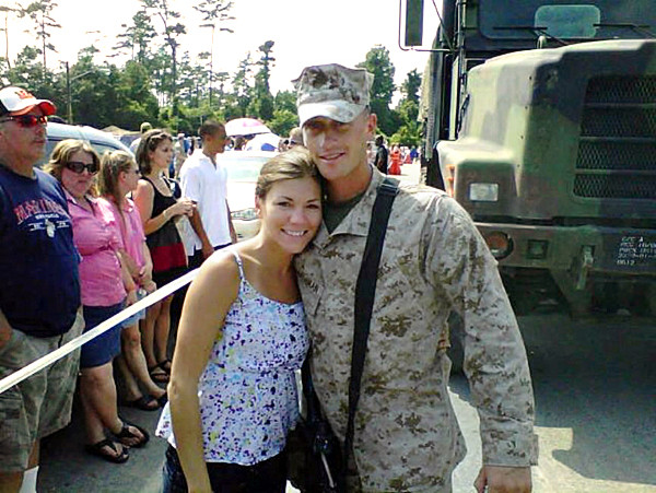 Family photo of 1st Lt. James Zimmerman and his wife Lynel. 