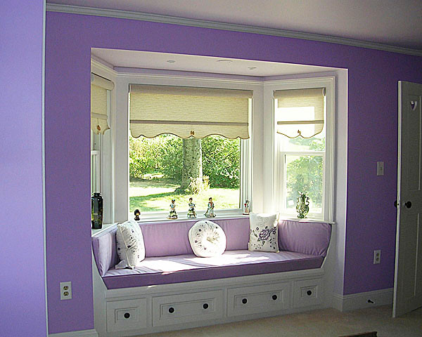 Pearse Farm Lavender Bedroom with New Bay window - originally summer kitchen. (Photo courtesy of Jean Skarratt)