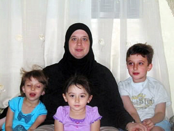 This is an undated photo of Heidi Alsaleh and her three children in Jordan.  Children, left to right:  Manar, 5 and Sarah, 4, and Ahmed, who will be 9 on Sunday, Nov. 14,(Courtesy of Heidi Alsaleh)