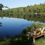 Williams Pond Lodge Red Bench Project benefits Cancer Support Center of Maine