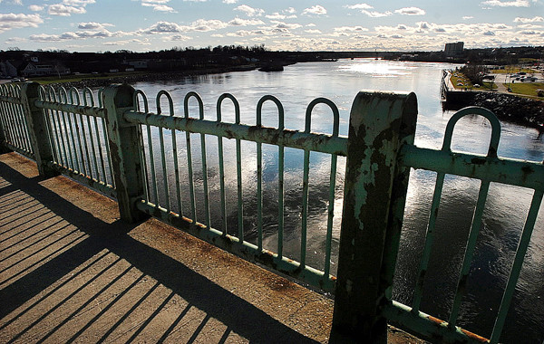 The Joshua Chamberlain Bridge in Bangor. (Bangor Daily News/Gabor Degre)