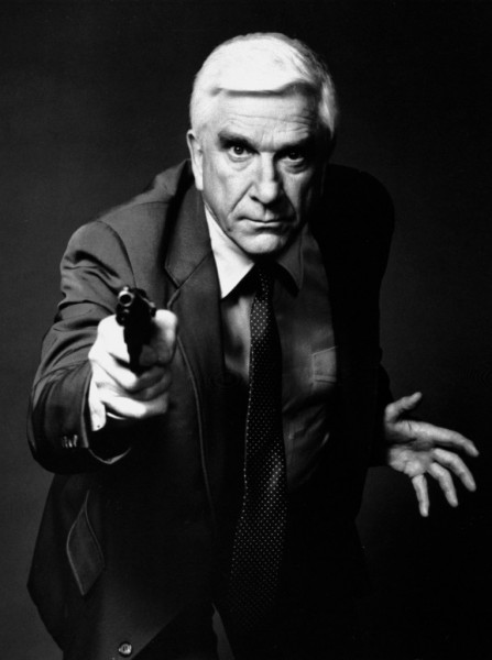 FILE - This 1988 file photo provided by Paramount, shows actor Leslie Nielsen as Lt. Frank Drebin in the movie &quotThe Naked Gun: From the Files of Police Squad!&quot The Canadian-born Nielsen, who went from drama to inspired bumbling as a hapless doctor in &quotAirplane!&quot and the accident-prone detective Frank Drebin in &quotThe Naked Gun&quot comedies, has died. He was 84. His agent John S. Kelly said the actor died Sunday, Nov. 28, 2010, at a hospital near his home in Florida where he was being treated for pneumonia. (AP Photo/Paramount, File)