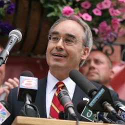 Bruce Poliquin speaks at a Republican unity event in June after Gov.-elect Paul LePage seized the Republican nomination for governor. Poliquin is hoping to become state treasurer and has been backed by LePage.