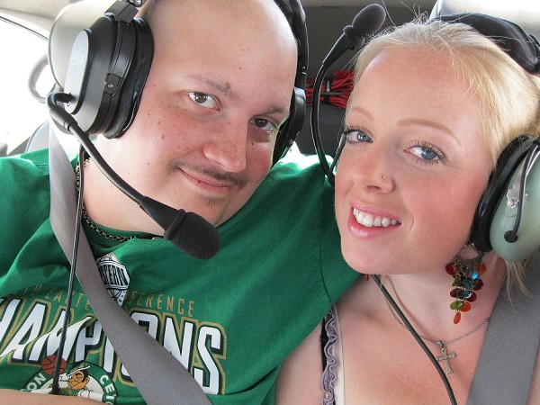 Pete and Nicole DeGennaro of Winterport on a PALS flight.