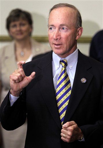 In this June 11, 2010 file photo, Indiana Gov. Mitch Daniels speaks in Indianapolis. (AP Photo/Michael Conroy, File)