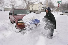 Deaths due to heart attacks increase during the winter months, beginning right after Thanksgiving and peaking around New Years Day. The American Heart Association urges people in northern climates to dress warmly and avoid unaccustomed exertion such as -- you guessed it -- shoveling snow.