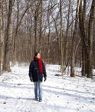 Enjoy nature on a winter walk.
