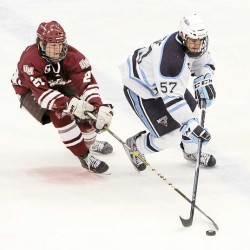 Maine men's hockey team rallies past Huskies