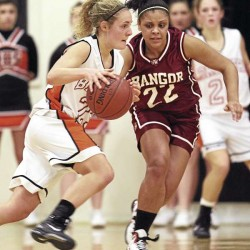 Bangor girls hold off archrival Brewer