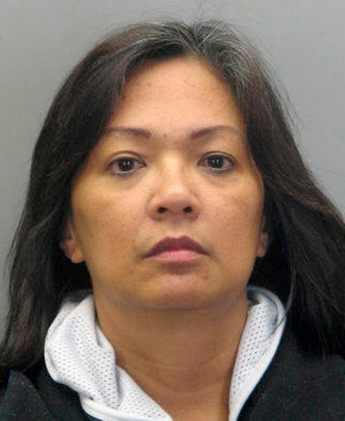 FILE - This handout photo provided by Fairfax County, Va., Police Department shows Carmela Dela Rosa. A toddler has died after police say she was thrown off a shopping mall walkway in Virginia by a woman believed to be her grandmother. Carmela Dela Rosa of Fairfax was arrested and charged with aggravated malicious wounding, the charge will be amended to murder now that the girl, Angelyn Ogdoc, has died. (AP Photo/Fairfax County, Va., Police Department, (File)