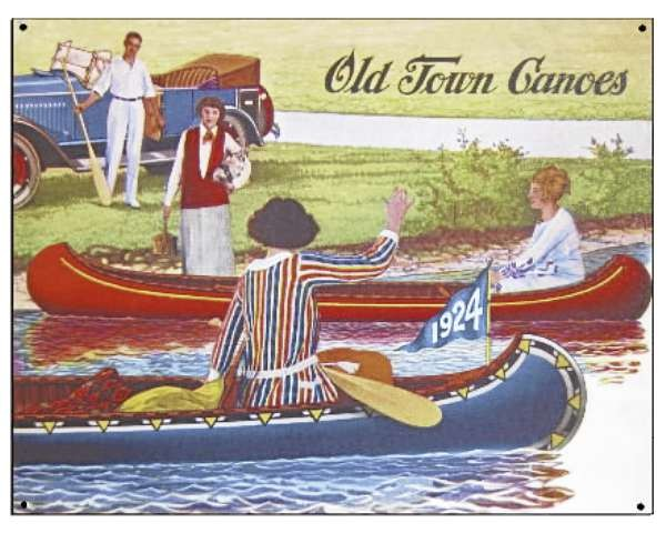 A collector's tin that features a reproduction of the 1924 Old Town Canoe catalog cover. (Photo courtesy of Old Town Canoe) (for outdoor gift guide, Saturday, Dec. 4)