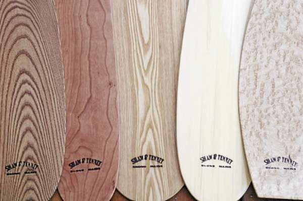 Maine made Shaw & Tenney paddles. Photo courtesy of Shaw & Tenney