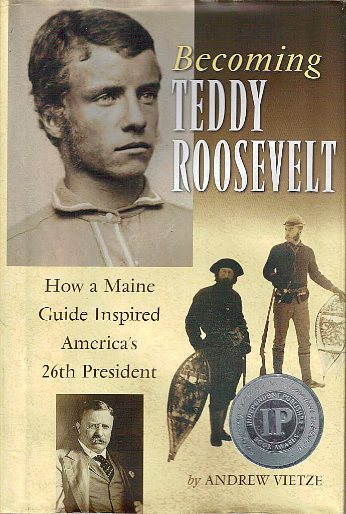 Becoming Teddy Roosevelt book cover. w.Brad Viles strory. FOR STROUT