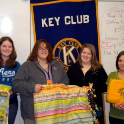 Caribou students make 150 'Linus' blankets