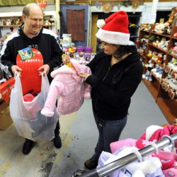 UMaine Greeks help gather gifts for children