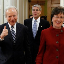 Collins, Pingree present for Obama bill signing