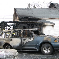 House fire in Trenton closes Route 3