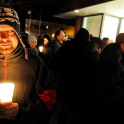 Candlelight memorial vigil walk for homeless