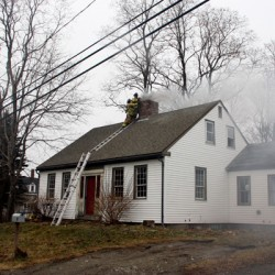 Fire guts historic house in central Maine