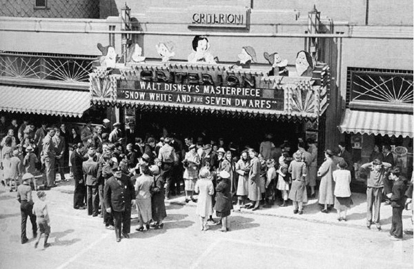 Snow White premiere at the Criterion in Bar Harbor in this undated photo. (Courtesy of Criterion)