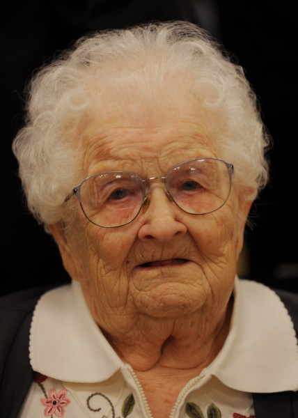 Eva M. Price (BANGOR DAILY NEW SPHOTO BY KEVIN BENNETT)  CAPTION   Major Eva M. Price  Image taken on Tuesday, November 10, 2009 at a ceremony honoring her service as a WWll nurse. Eva is 100 years when this image was taken. Her date of birth is 1-21-1909.