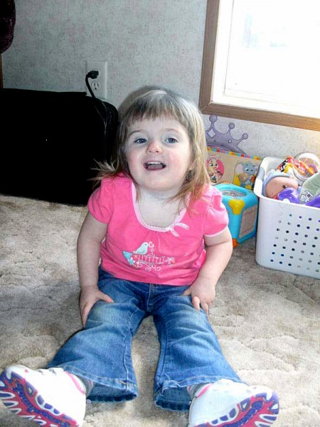 Kayla York, 3, of Presque Isle