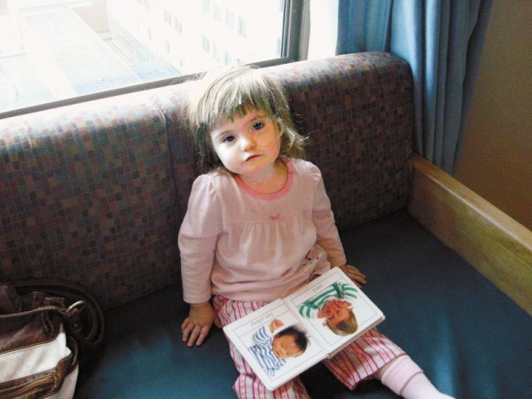 Kayla York, 3, of Presque Isle, pictured here in photographs taken in early Dec. 2010, suffers from CHARGE Syndrome, a recognizable genetic pattern of birth defects which occurs in about one in every 9-10,000 births worldwide. Kayla has undergone multiple surgeries on her heart, nose and ears and spent weeks in the hospital. She suffers from a host of medical problems related to the disease, and her family is struggling to stay afloat financially while offering her the best care possible.