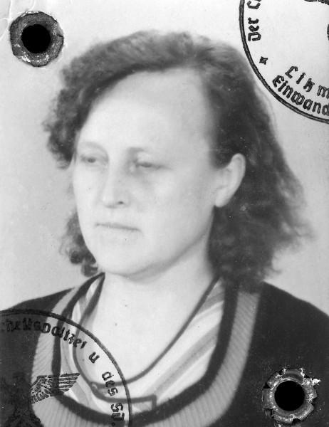 Philomene's passport photo issued in Posen.