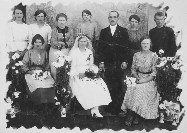 Philomene Keller (front right) as a bridesmaid at a wedding.