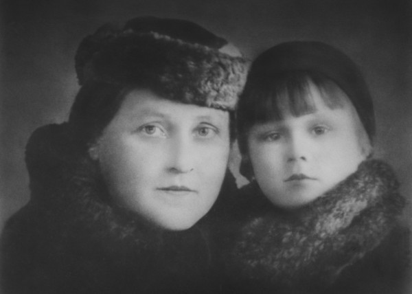 Philomene Keller and her daughter Philomena (their last name would  have been Semenenko at this time). c.1938.