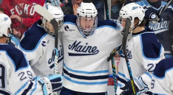 Martin Ouellette (St.-Hippolyte, Quebec) made a career high 31 saves as he shut out the Providence Friars on Saturday night en route to his first career win. The Black Bears broke the game open with three goals in the first 10 minute of the third period. Maine moves to 7-3-4 on the season and 5-2-2 in Hockey East play, while Providence falls to 6-6-4 overall and 3-4-4 in conference play.