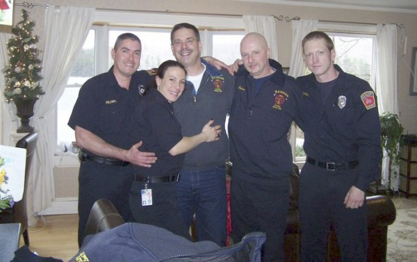 "Firefighters save colleague from heart attack Capt. John Prentiss of the Bangor Fire Department was thanking his co-workers around Christmas after they saved him from a heart attack while responding to an emergency call. ""I wouldn't be here today if it weren't for those four guardian angels,"" Prentiss told the BDN, referring to the four firefighters who brought him back from the dead. The story received nearly 40,000 page views."
