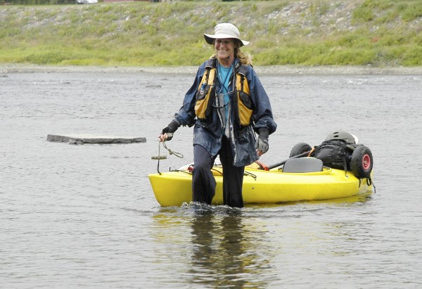 Woman sets mark paddling N.Y. to Maine Cathy Mumford became the first woman to solo paddle the 740-mile Northern Canoe Forest Trail when she arrived in Fort Kent in August. She completed her journey from New York in 58 days, and her story received more than 42,000 page views.