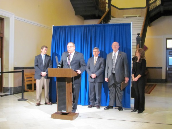 Governor Paul LePage nominated three members of his cabinet and two members of his administrative team Friday during a press conference in the State House.